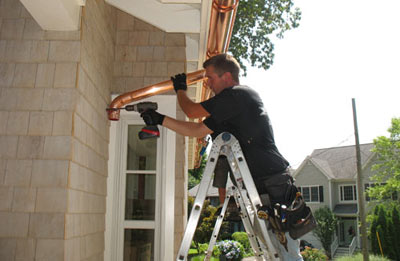 Gutter installation in Mason
